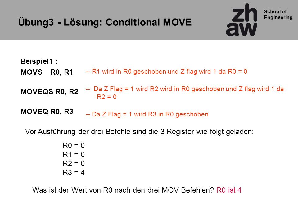 Übung3 - Lösung: Conditional MOVE