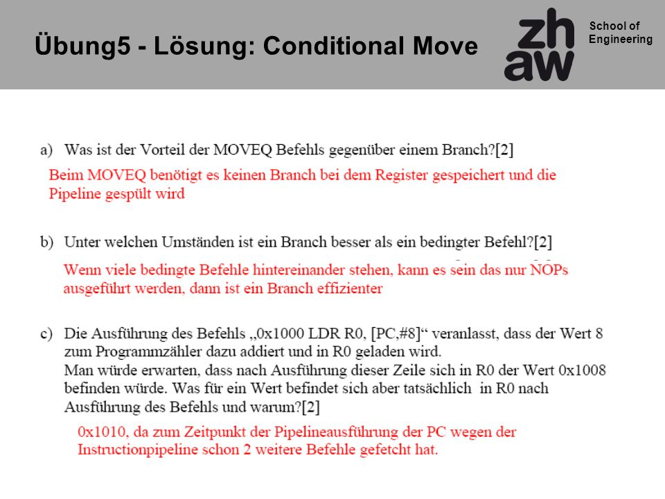 Übung5 - Lösung: Conditional Move