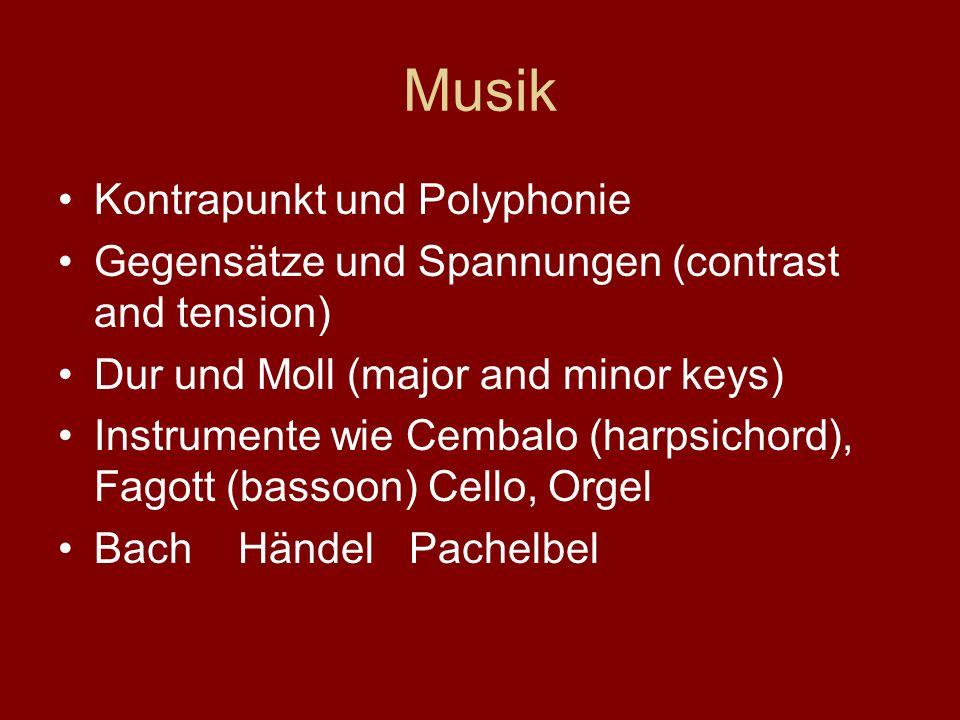Musik Kontrapunkt und Polyphonie