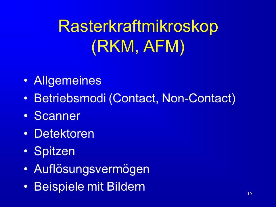 Rasterkraftmikroskop (RKM, AFM)