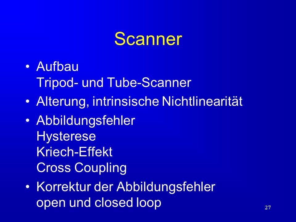 Scanner Aufbau Tripod- und Tube-Scanner