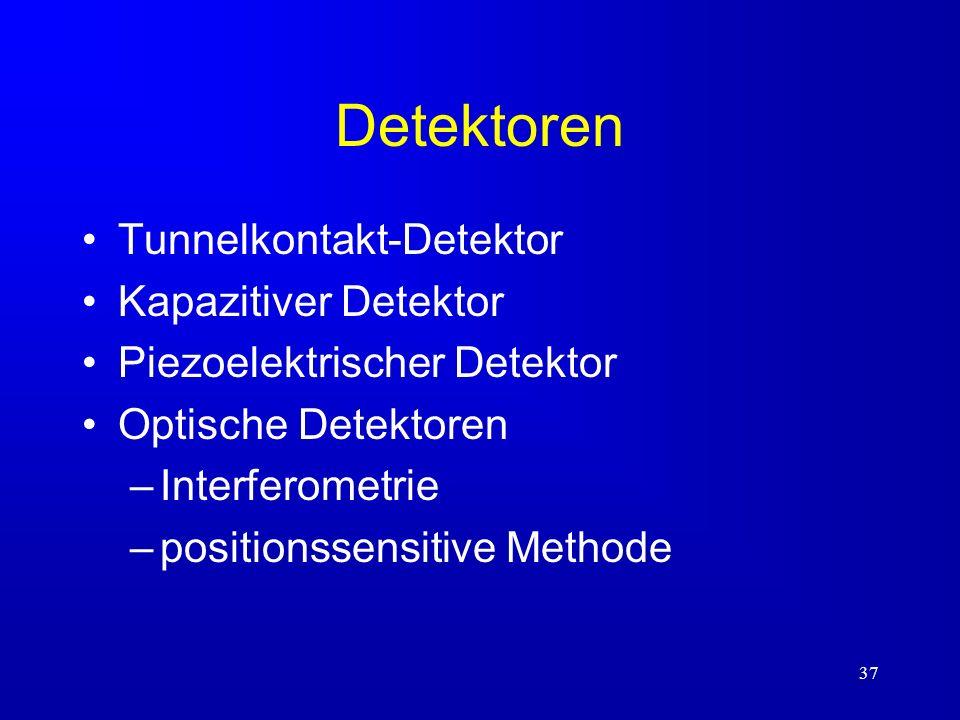 Detektoren Tunnelkontakt-Detektor Kapazitiver Detektor