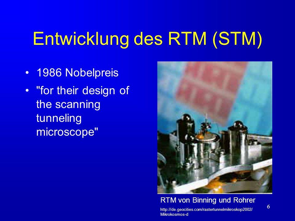 Entwicklung des RTM (STM)