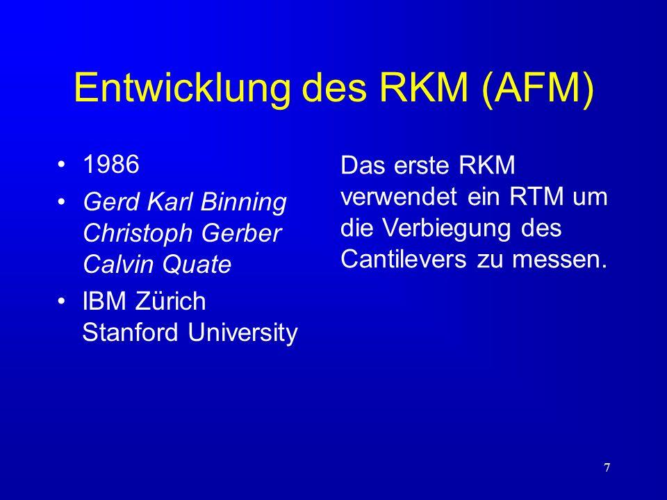 Entwicklung des RKM (AFM)