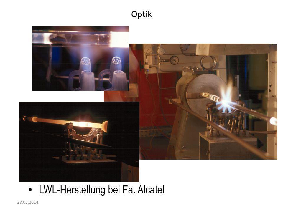 LWL-Herstellung bei Fa. Alcatel
