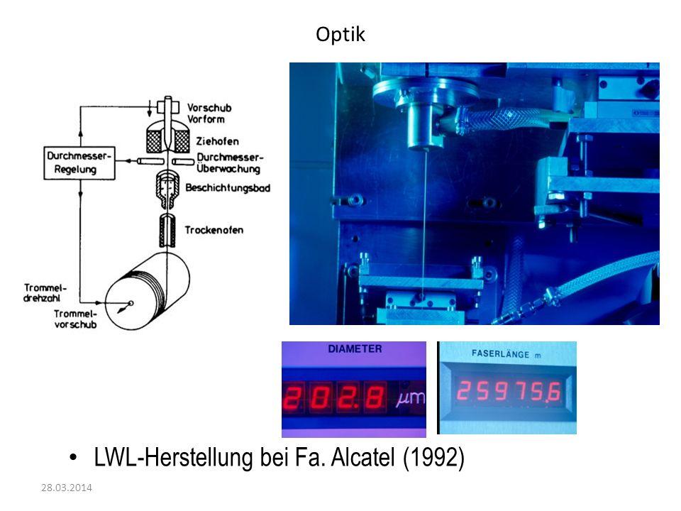 LWL-Herstellung bei Fa. Alcatel (1992)