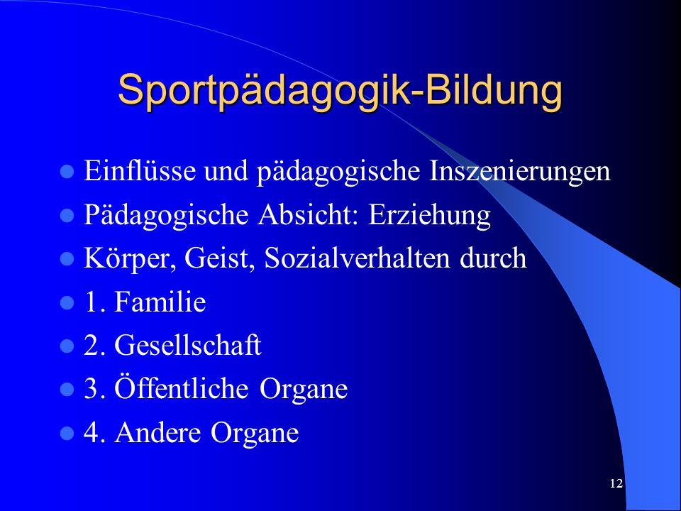 Sportpädagogik-Bildung