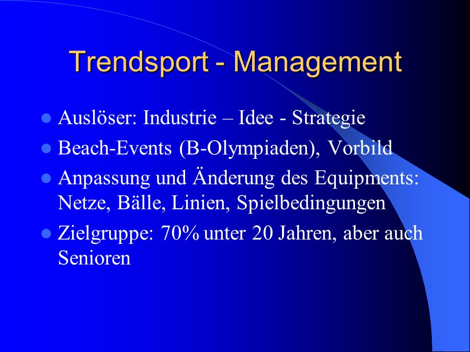 Trendsport - Management