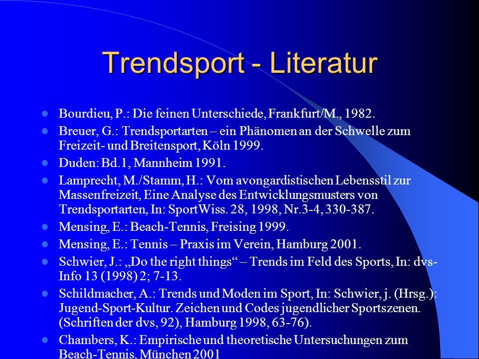 Trendsport - Literatur