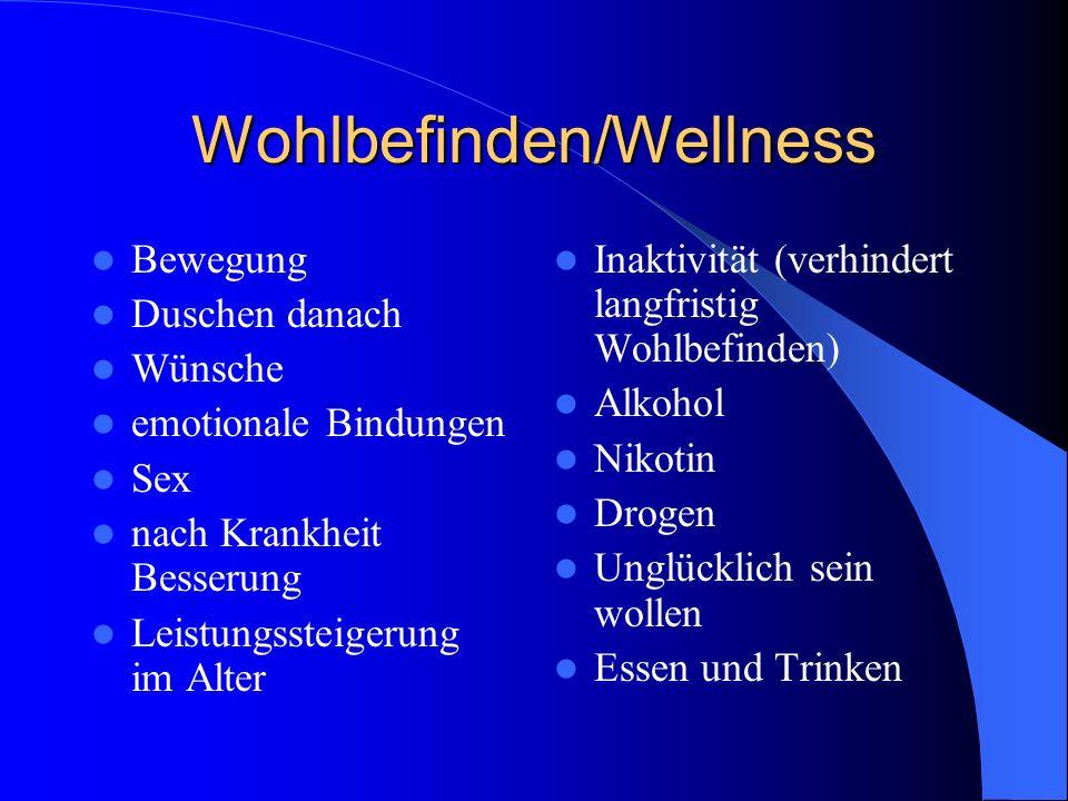 Wohlbefinden/Wellness