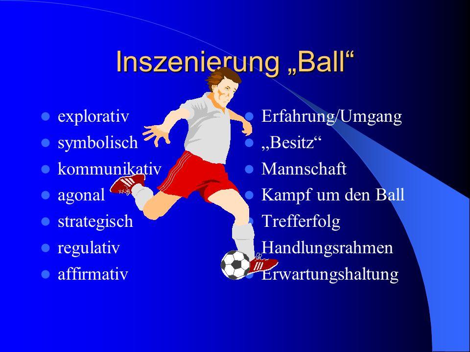"Inszenierung ""Ball explorativ symbolisch kommunikativ agonal"