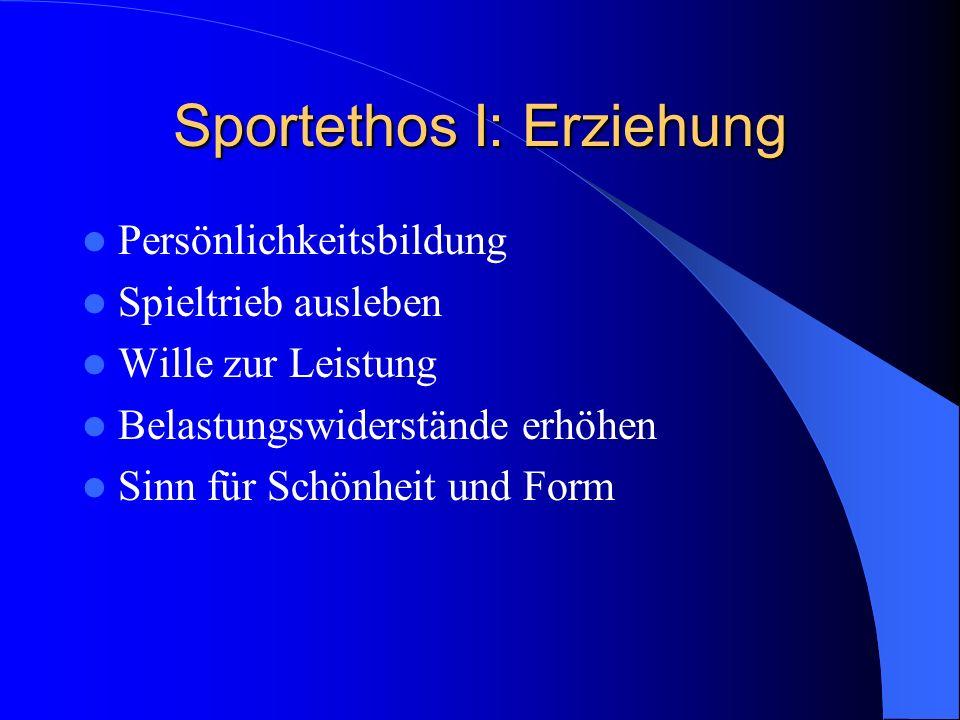 Sportethos I: Erziehung