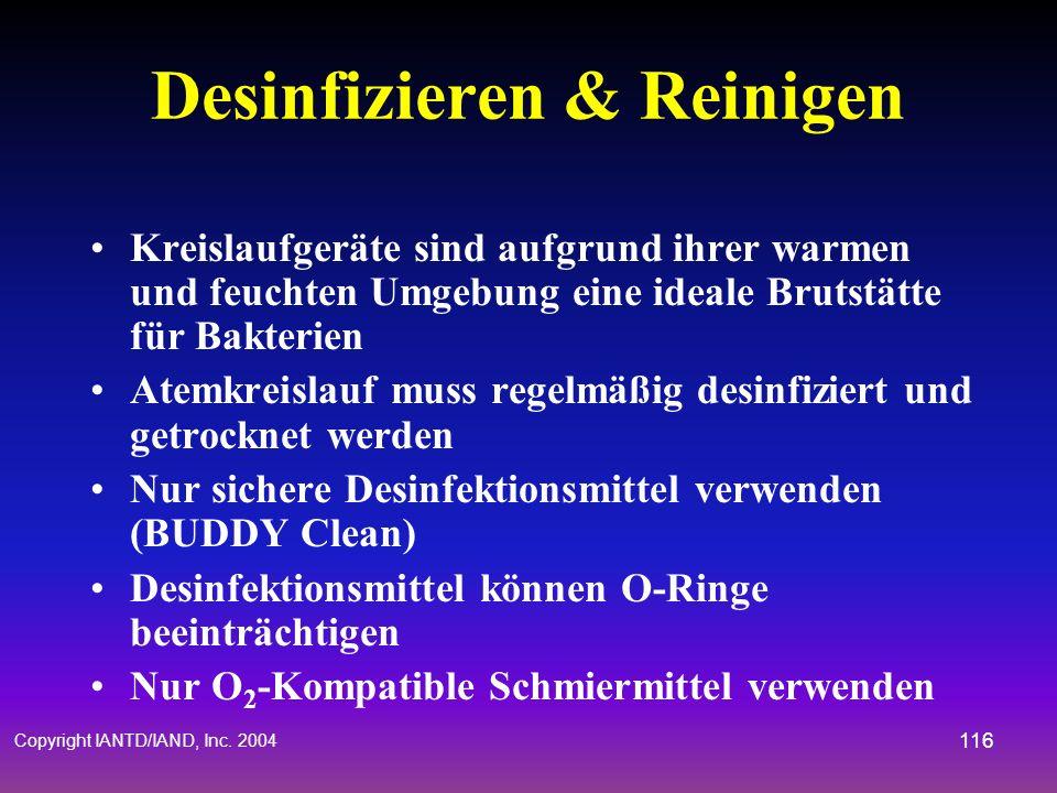 Desinfizieren & Reinigen