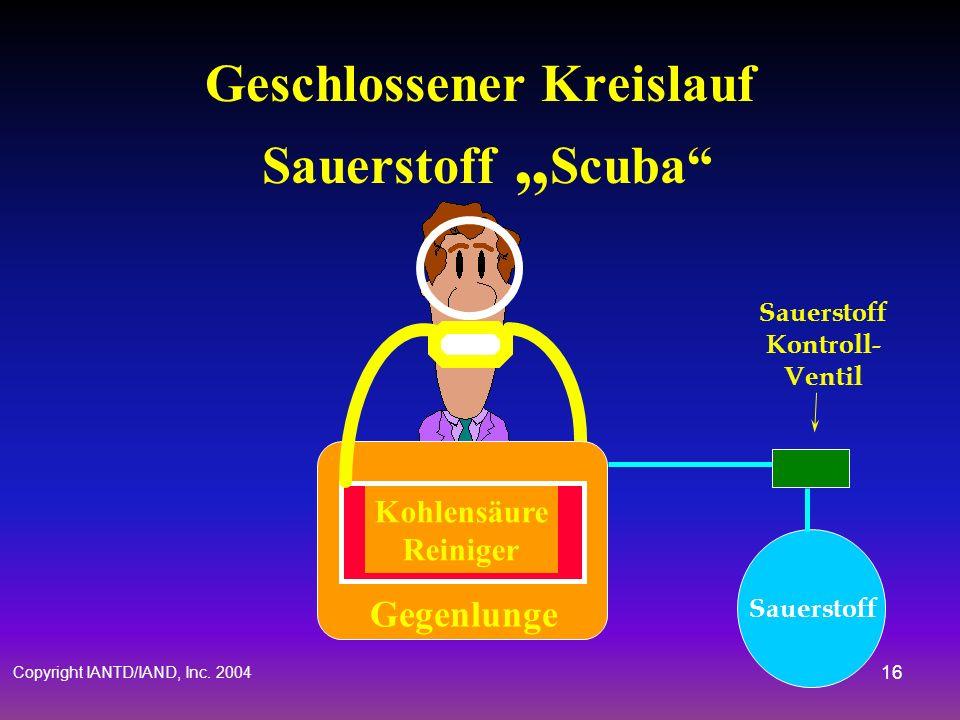 """Geschlossener Kreislauf Sauerstoff """"Scuba"""