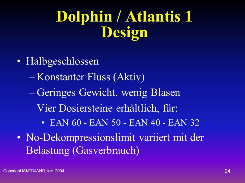 Dolphin / Atlantis 1 Design