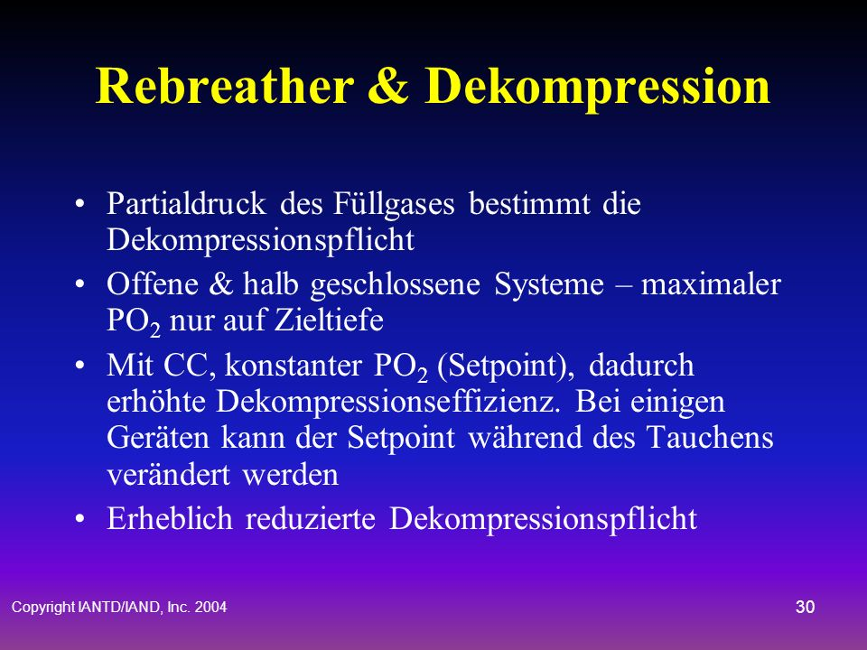 Rebreather & Dekompression