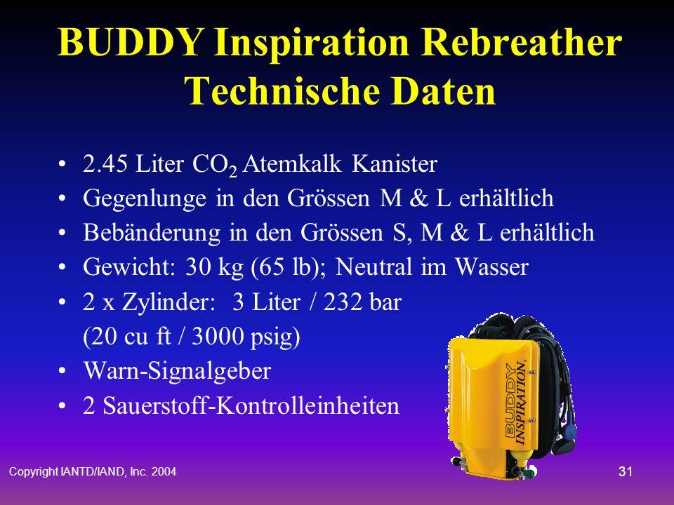BUDDY Inspiration Rebreather Technische Daten