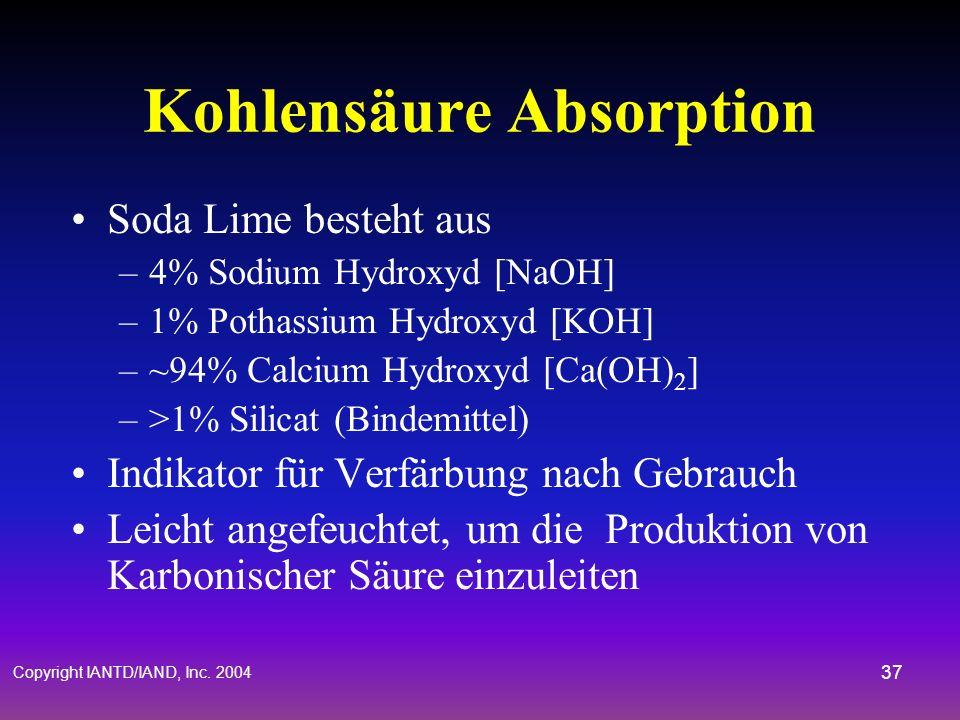 Kohlensäure Absorption