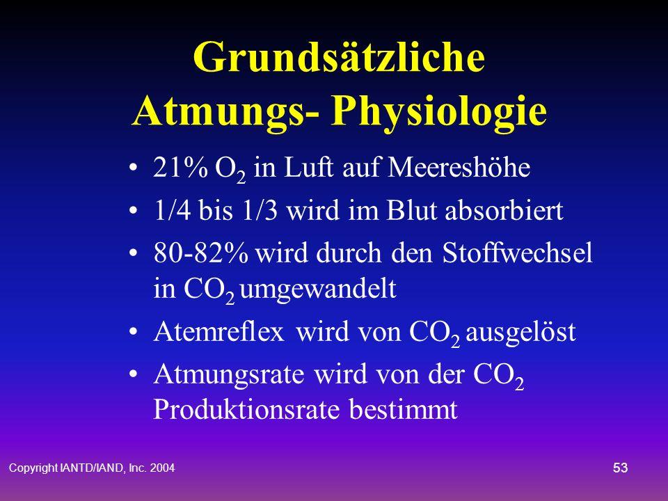 Grundsätzliche Atmungs- Physiologie