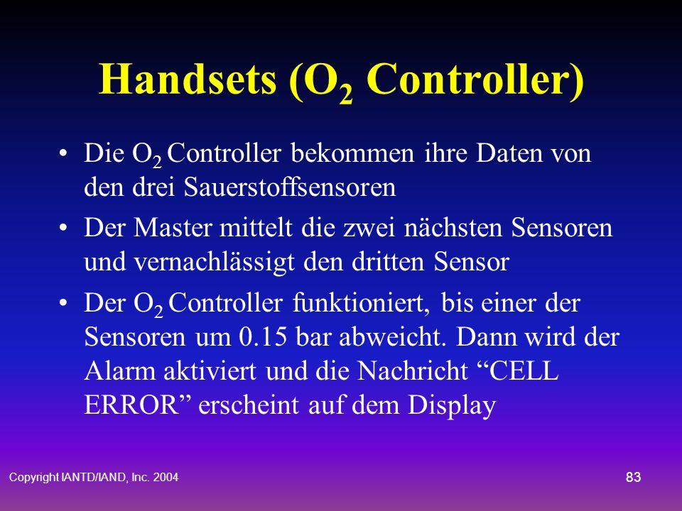 Handsets (O2 Controller)