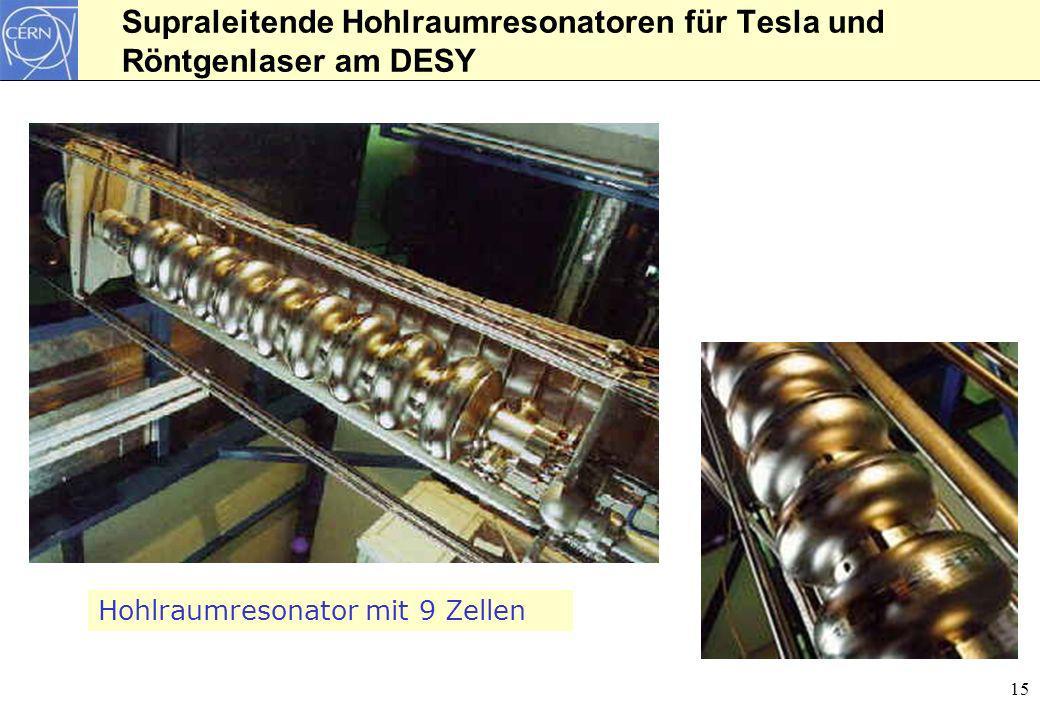 Supraleitende Hohlraumresonatoren für Tesla und Röntgenlaser am DESY
