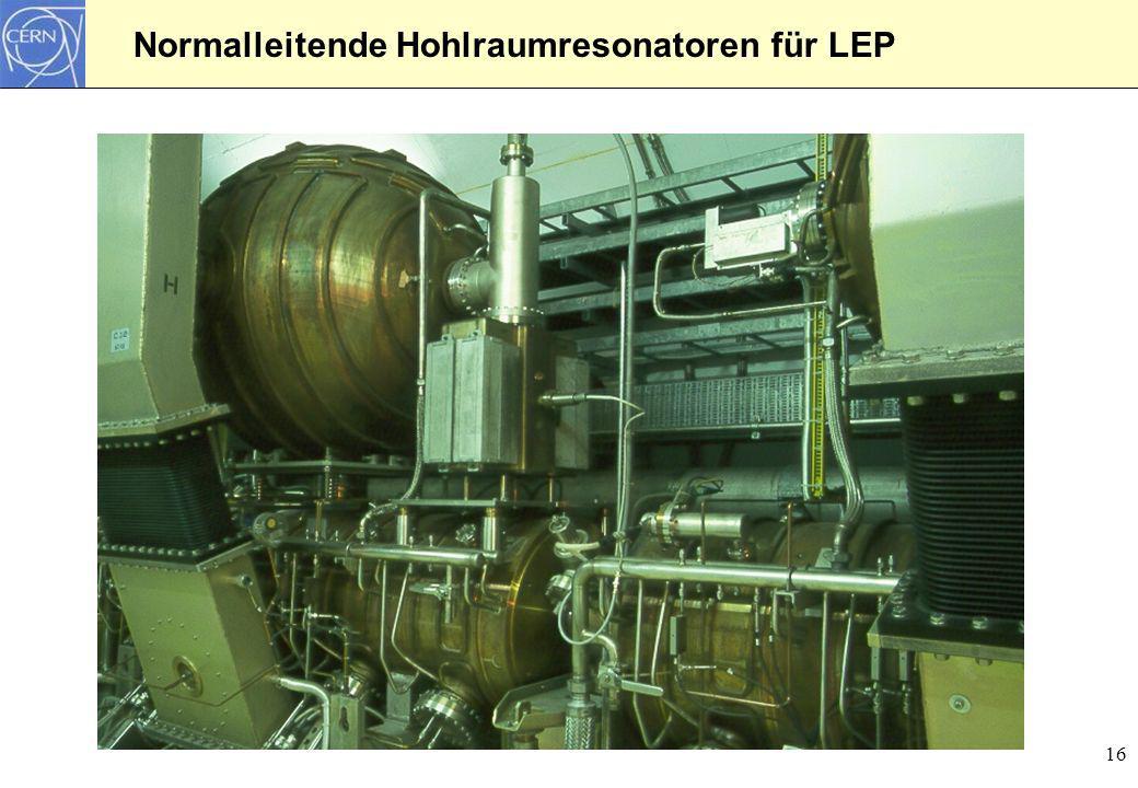 Normalleitende Hohlraumresonatoren für LEP