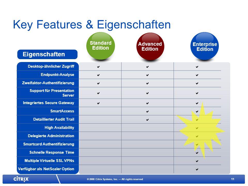 Key Features & Eigenschaften