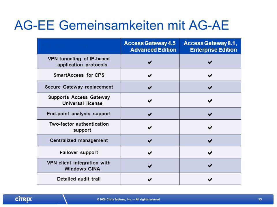 AG-EE Gemeinsamkeiten mit AG-AE
