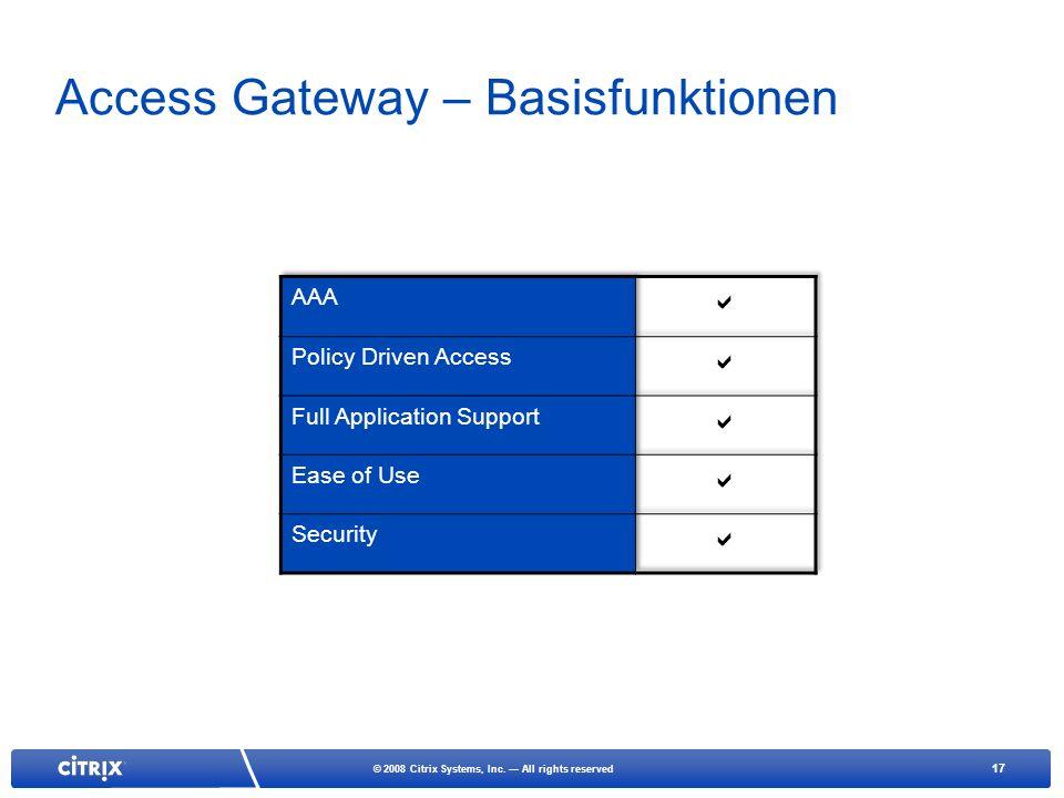 Access Gateway – Basisfunktionen
