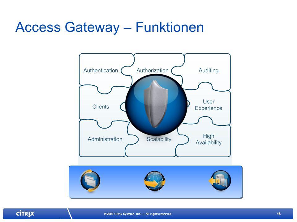 Access Gateway – Funktionen