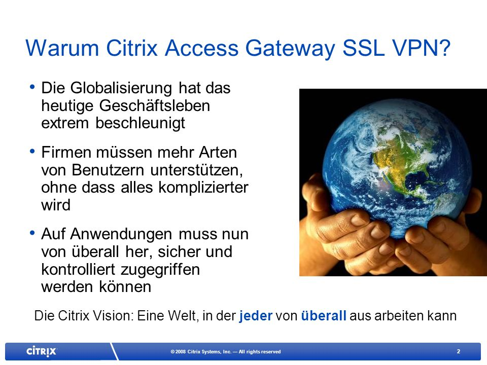 Warum Citrix Access Gateway SSL VPN