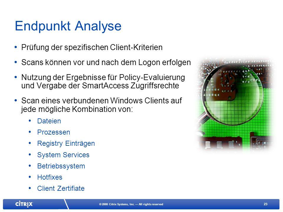 Endpunkt Analyse Prüfung der spezifischen Client-Kriterien