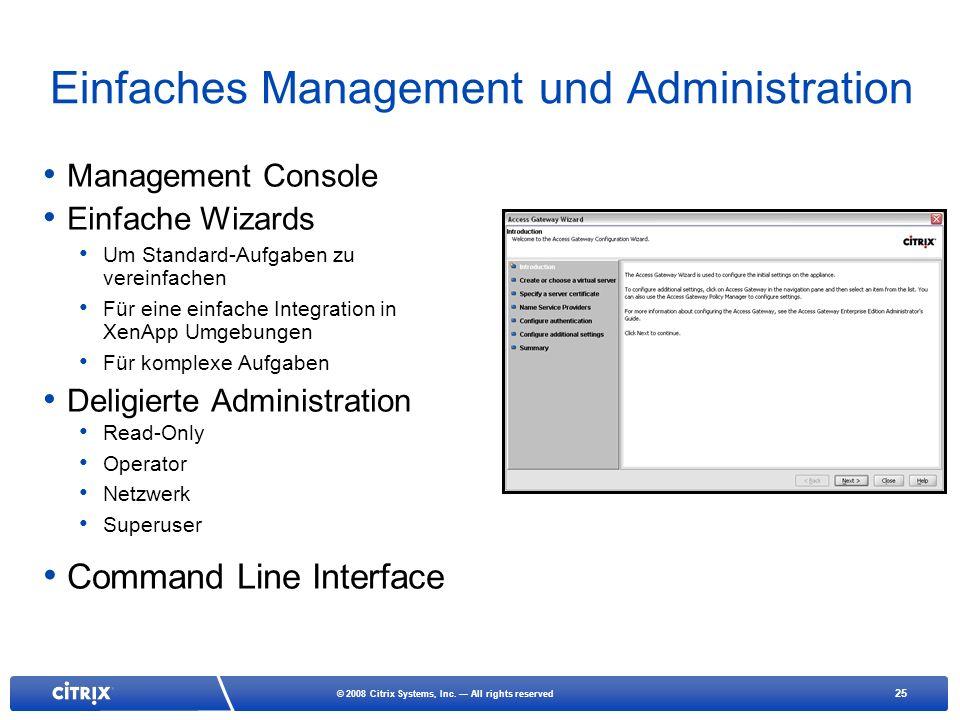 Einfaches Management und Administration