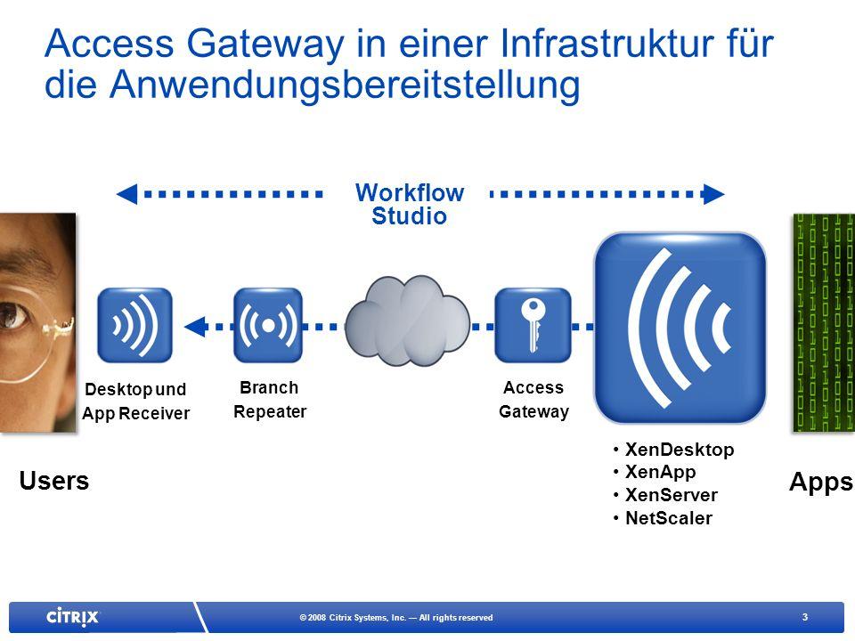 Access Gateway in einer Infrastruktur für die Anwendungsbereitstellung