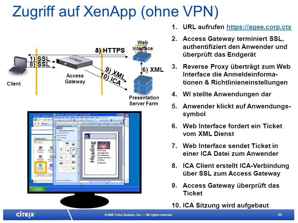 Zugriff auf XenApp (ohne VPN)