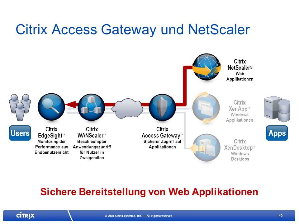 Citrix Access Gateway und NetScaler