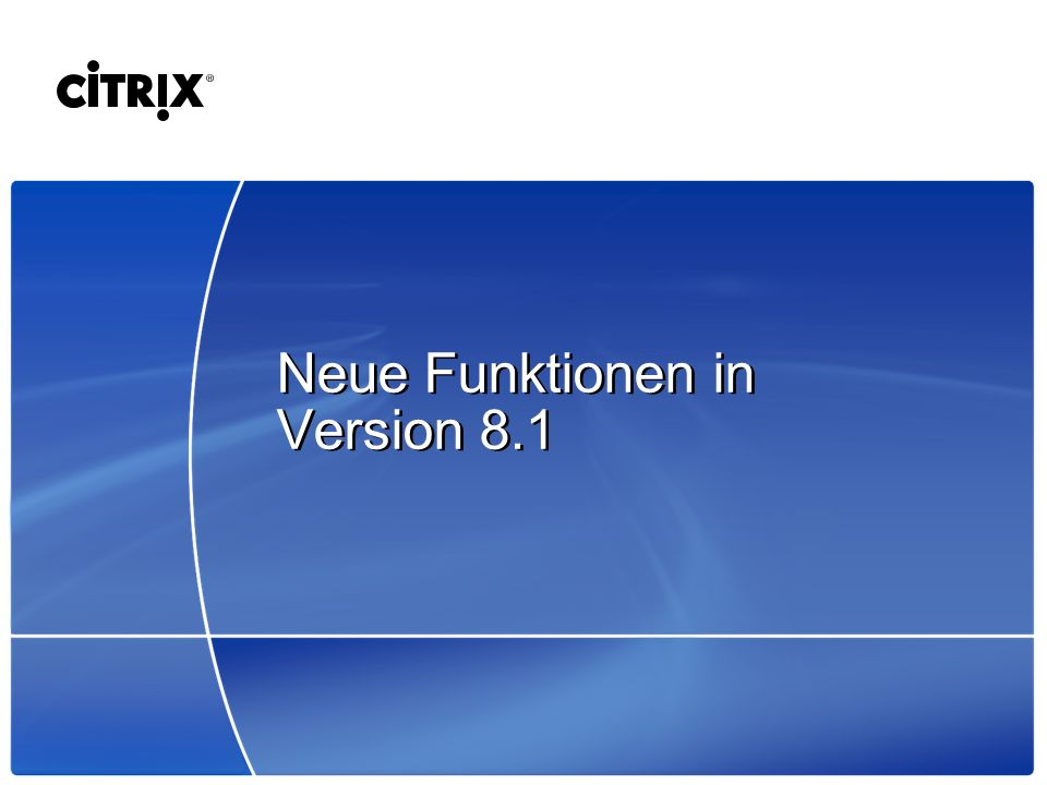 Neue Funktionen in Version 8.1
