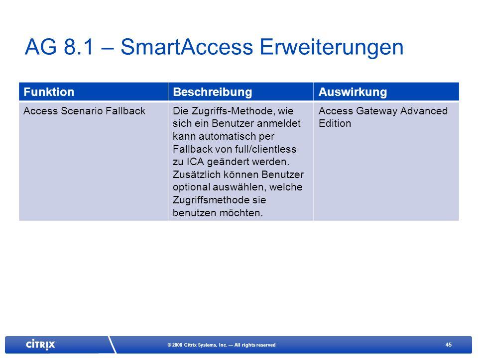 AG 8.1 – SmartAccess Erweiterungen