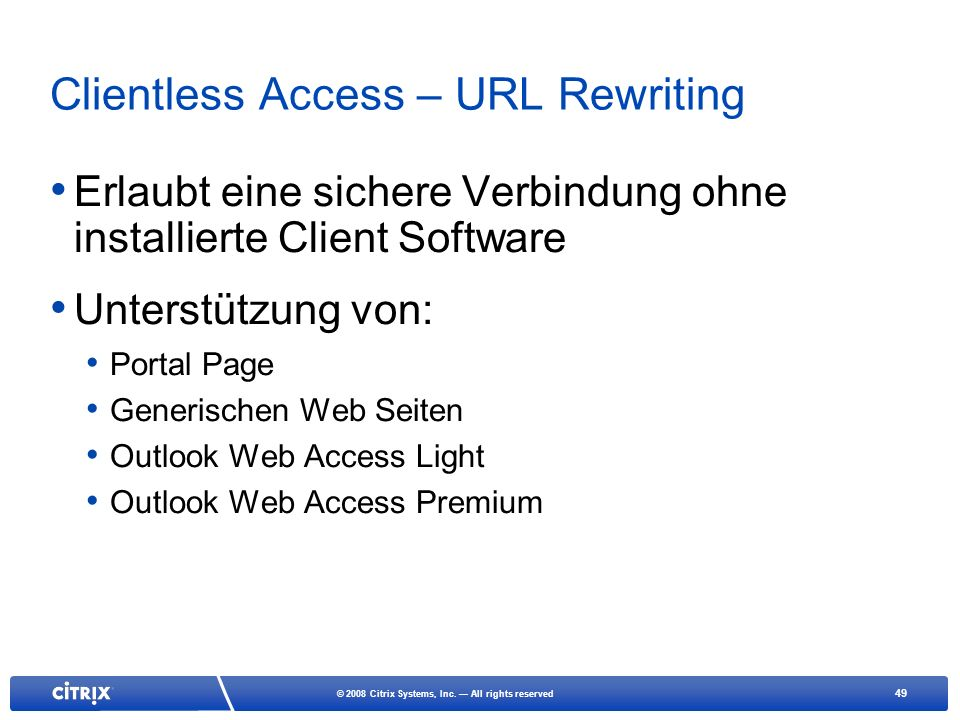 Clientless Access – URL Rewriting