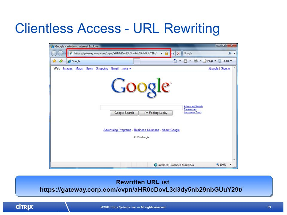 Clientless Access - URL Rewriting