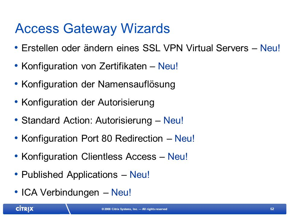 Access Gateway Wizards