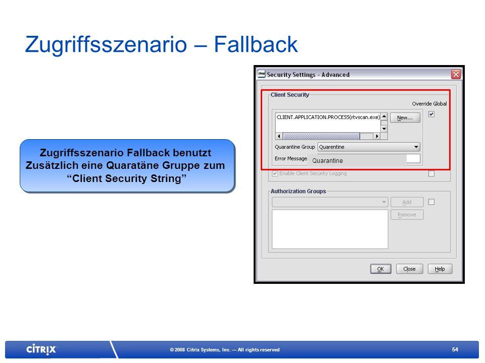Zugriffsszenario – Fallback