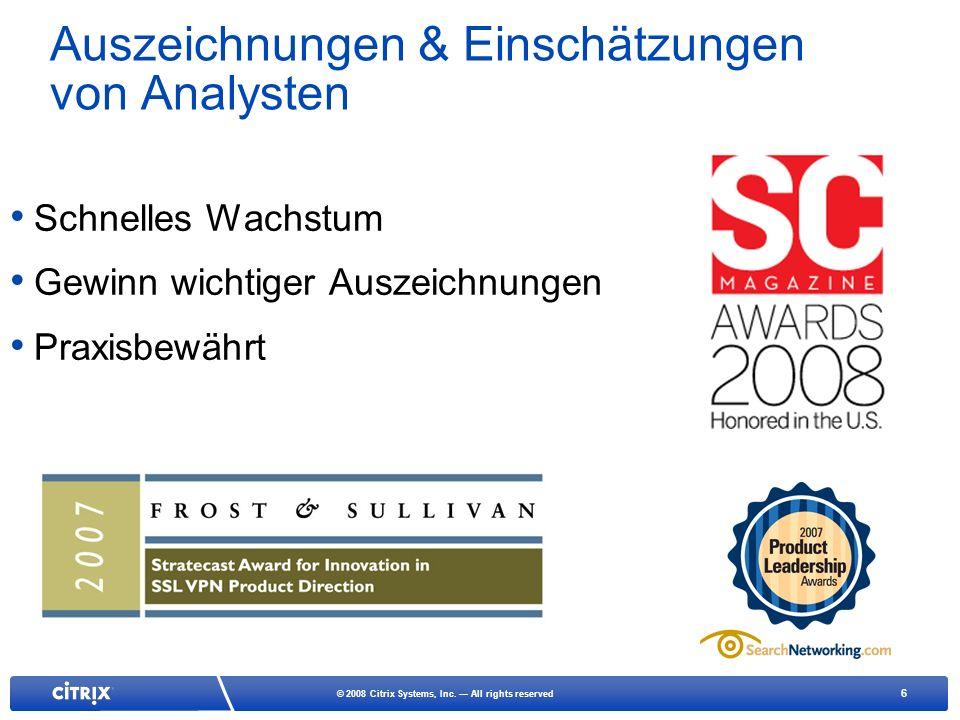 Auszeichnungen & Einschätzungen von Analysten