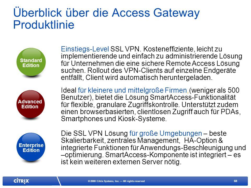 Überblick über die Access Gateway Produktlinie