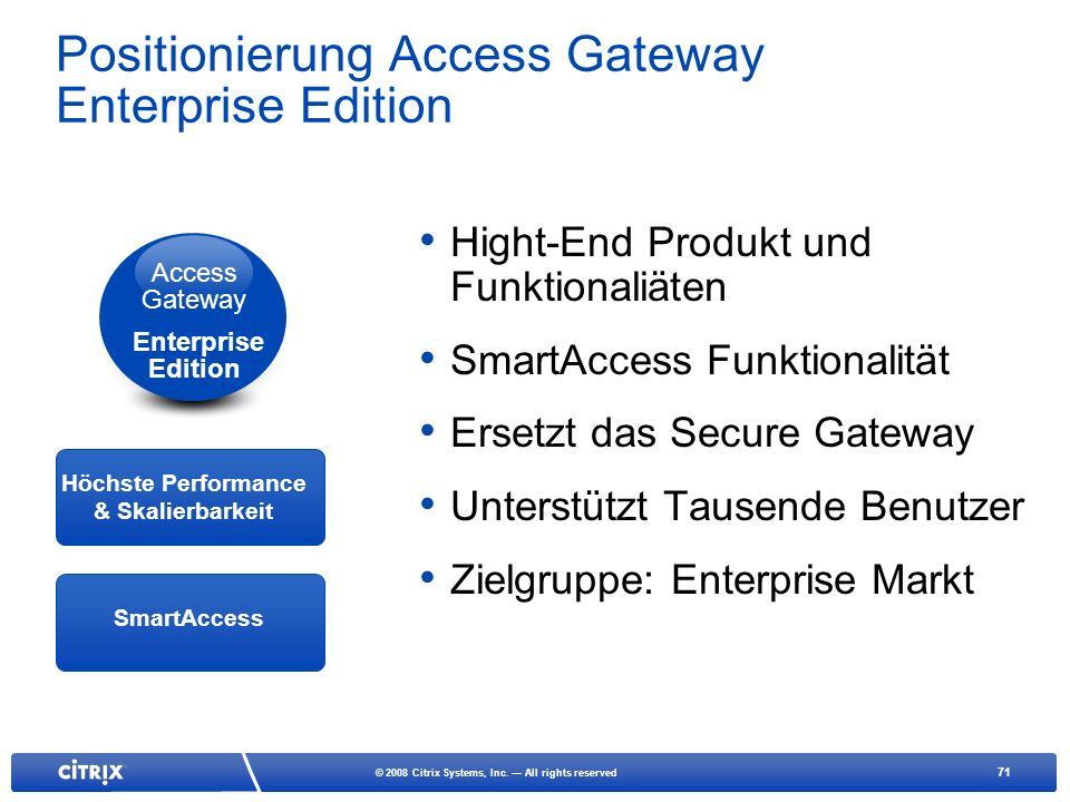 Positionierung Access Gateway Enterprise Edition