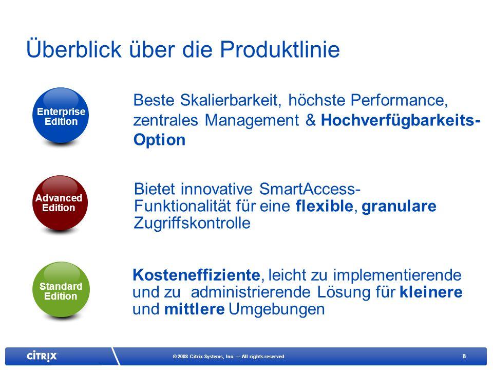 Überblick über die Produktlinie