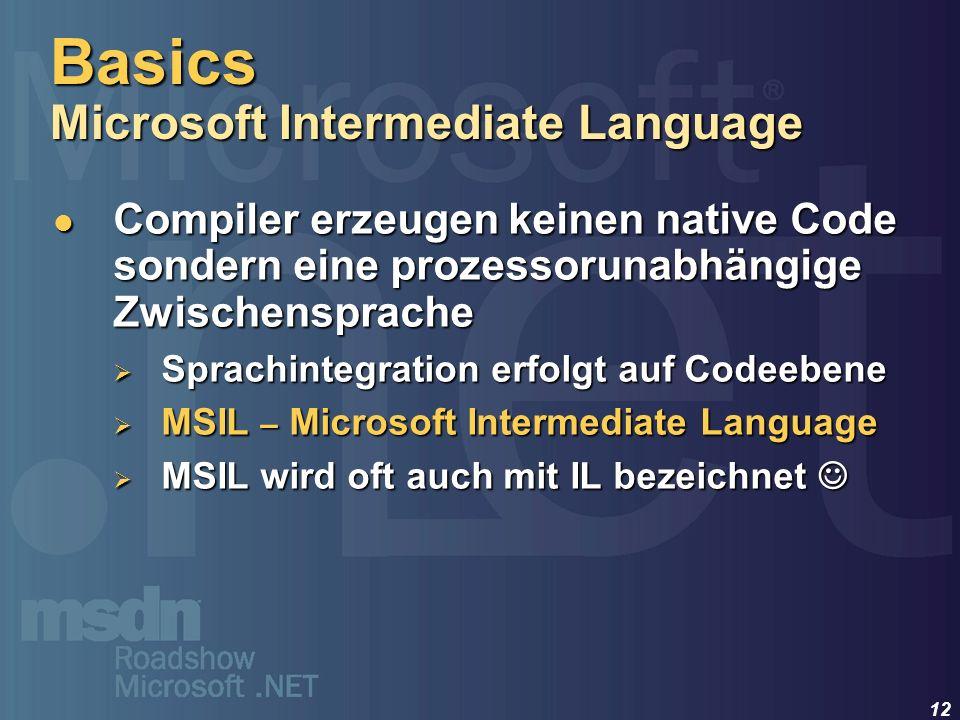 Basics Microsoft Intermediate Language