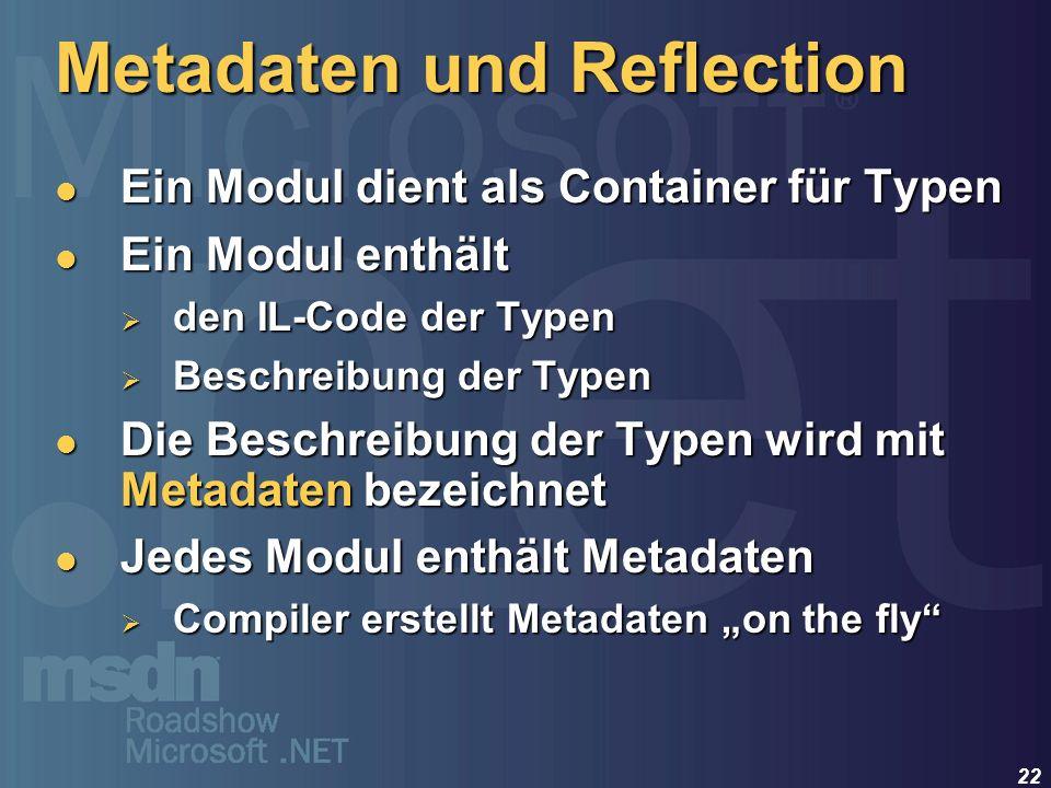 Metadaten und Reflection