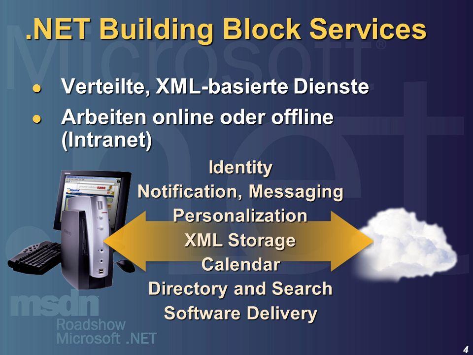 .NET Building Block Services