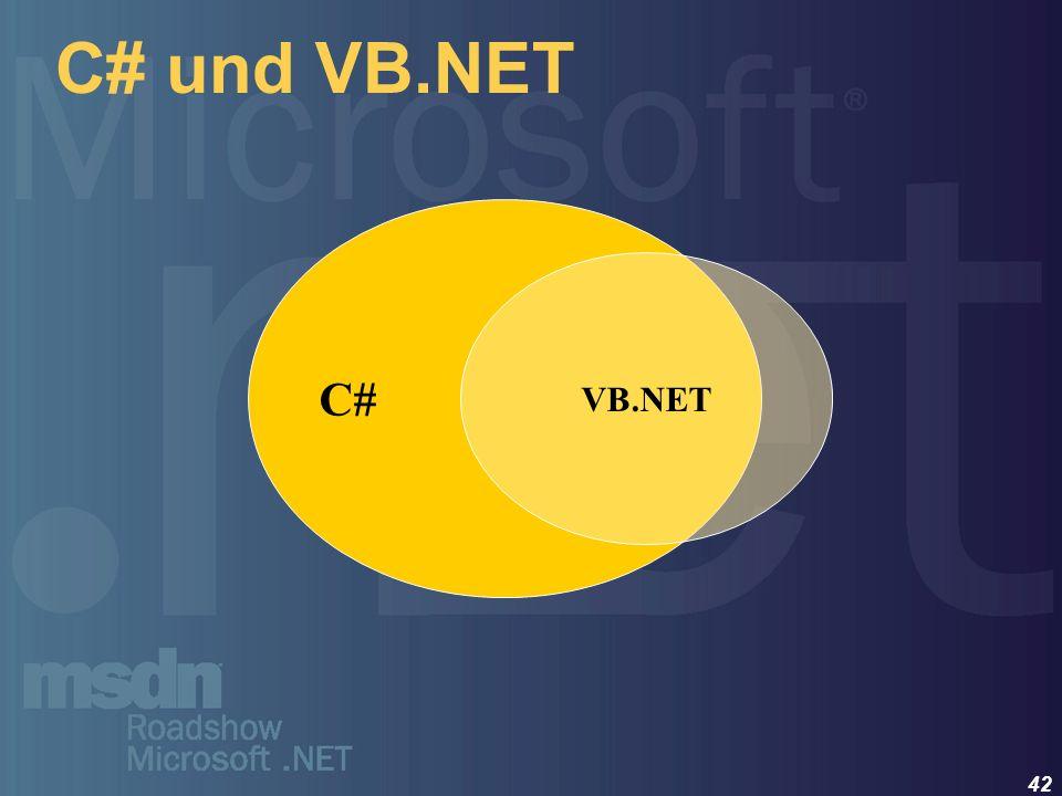 C# und VB.NET C# VB.NET
